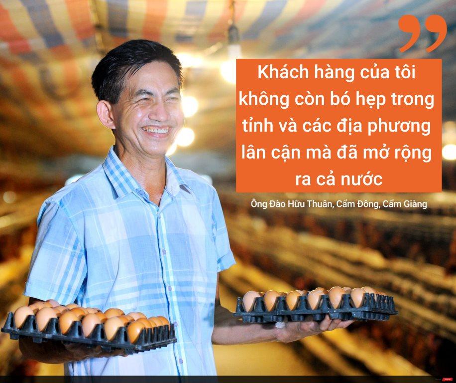 Khách hàng của tôi không còn bó hẹp trong tỉnh và các địa phương lân cận mà đã mở rộng ra cả nước